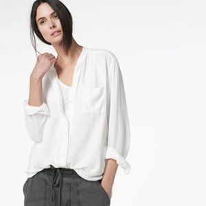 James Perse | Collarless Pocket Shirt
